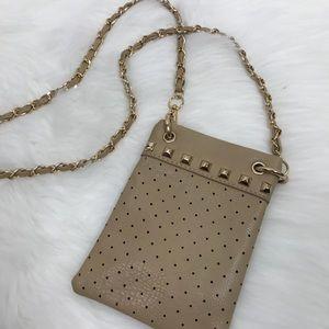 Crossbody Studded & Gold Tone Chain Handbag